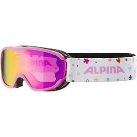 Alpina Pheos MM Beskyttelsesbriller Børn, hvid/pink